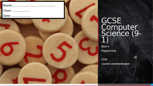 CS35: Counter-controlled iteration (Workbook)