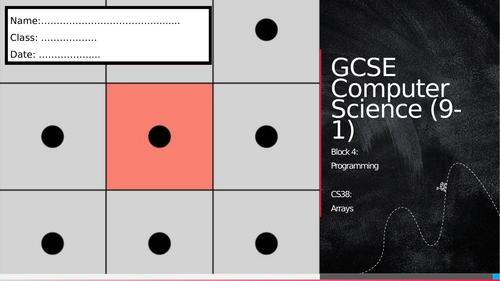 CS38: Arrays (Workbook)