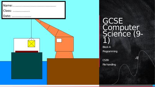 CS39: File handling (Workbook)