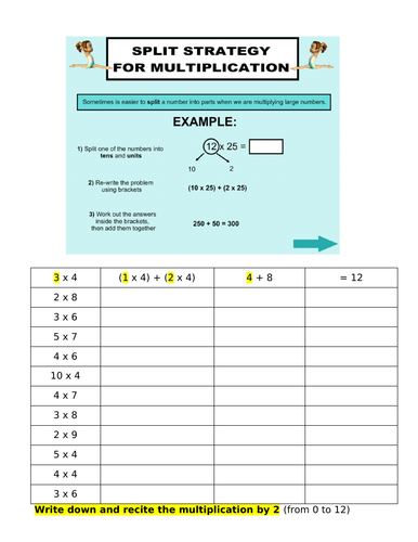 Revise multiplication by 2, 3, 4, 5 and introduce of 8