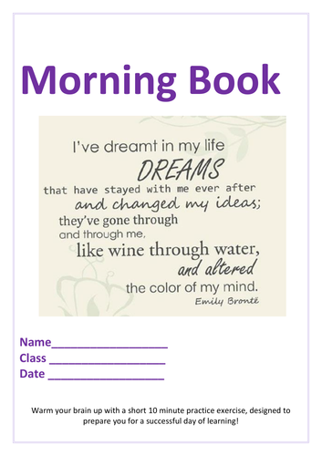 Year 5 Morning Booklet 1