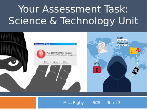 Social and Community Studies - Science and Technology (eSafety) unit - Assessment hand out