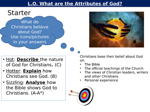 WJEC GCSE RE - Attributes of God - Unit One Christianity Beliefs and Teachings