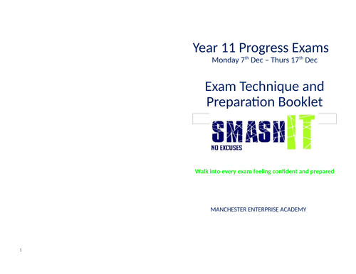 Year 11 Mock Exam Preparation resources