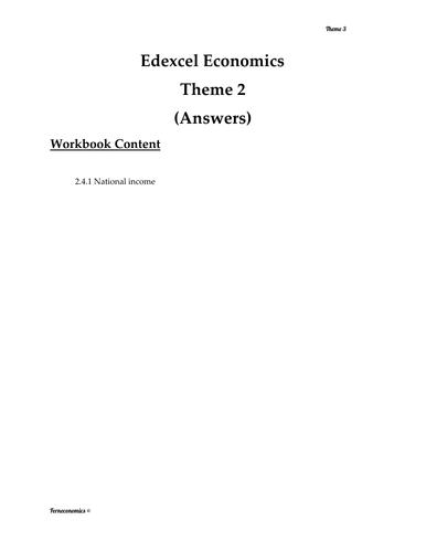 Edexcel Economics Theme 2: 2.4.1 National Income