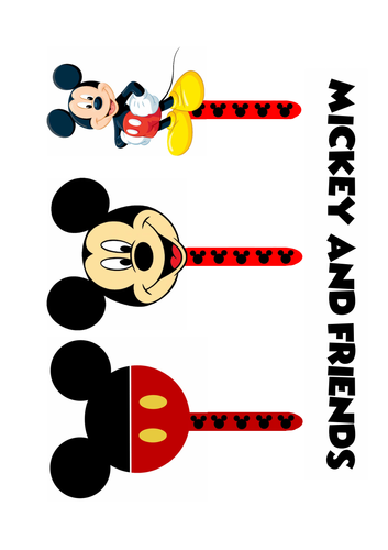 MICKY MOUSE AND FRIENDS FINGER SPACERS