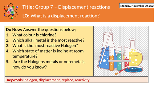 Group 7 - Halogens - Displacement reactions
