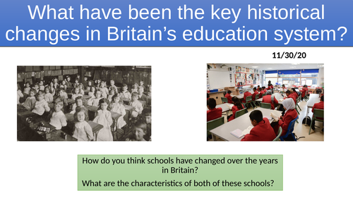L2. Historical Changes in Education