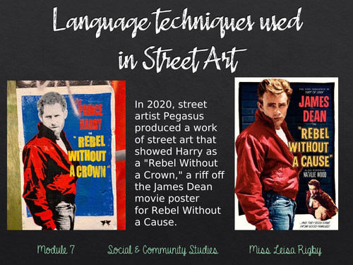 Social and Community Studies - Arts & Community - Language features used in Street Art