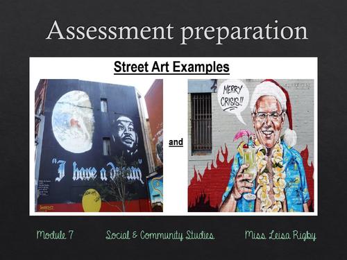 Social and Community Studies - Arts & Community - Assessment preparation - street art task stimulus