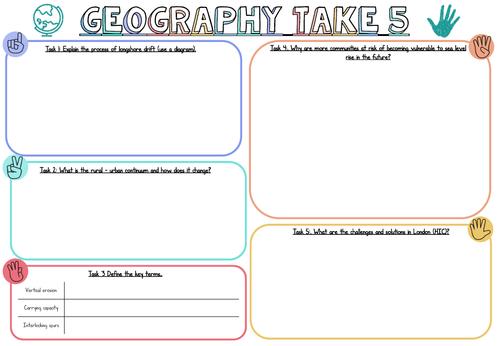 Take 5 Summary Sheets