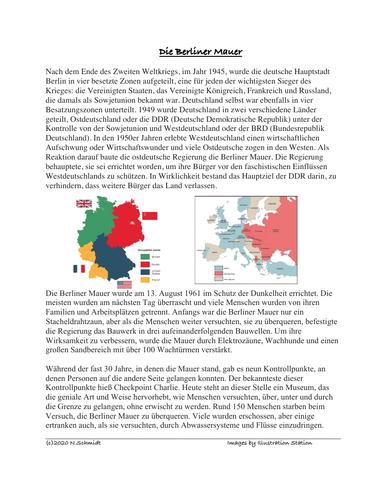 Die Berliner Mauer Lesung: Berlin Wall German Reading