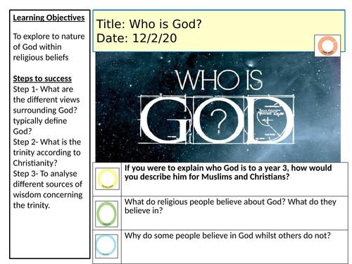 Who is God? KS3 scheme of work and lessons.
