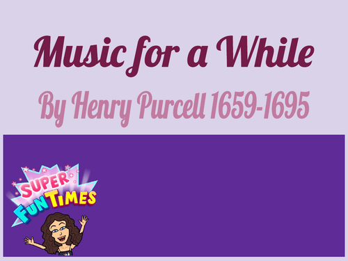 Music For A While PowerPoint  Musical Analysis
