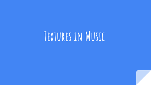 Texture in Music Powerpoint