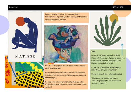 Henri Matisse Worksheet