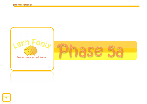 Lern Fonix Phase 5a scheme of work