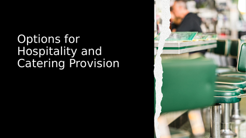 Hospitality and Catering Provision for Specific Requirements AC5.1