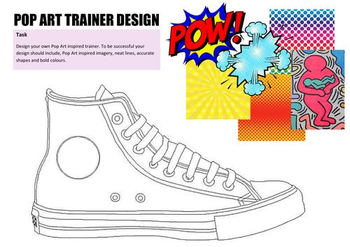Pop Art trainer design