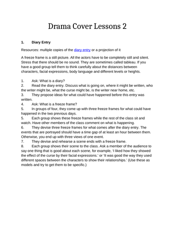 Drama Lessons for Cover or Supply Teachers 2