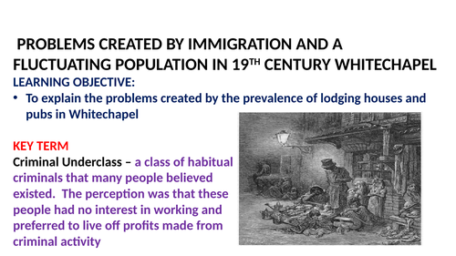 WHITECHAPEL HISTORIC ENVIRONMENT POWERPOINT AND RESOURCES LESSONS 12-14