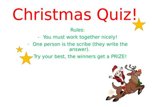 Christmas Class Quiz