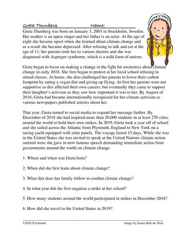 Greta Thunberg Biography of Climate Activist