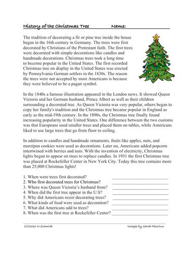 History of the Christmas Tree Reading