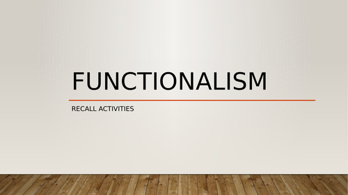 A Level Sociology/Criminology- Revision of Functionalism and Crime & Deviance