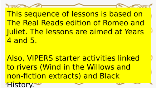 Romeo and Juliet - Lesson Slides