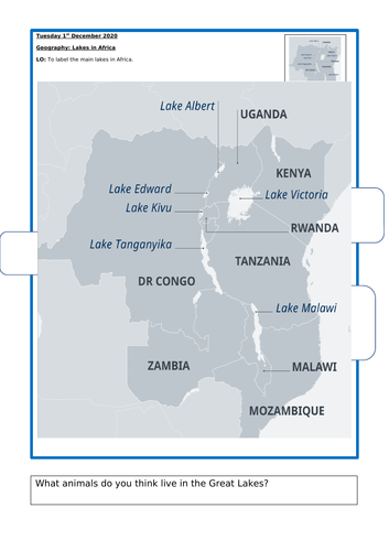 Africa Y1: Geography Full Unit