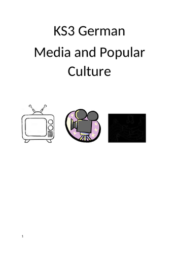KS3 German Workbook Media and Popular Culture