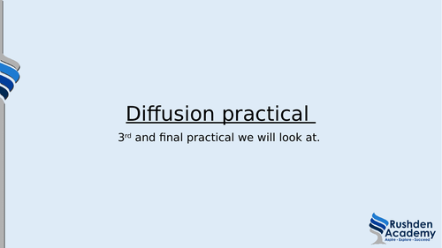 BTEC level 3 Applied science Unit 3 Diffusion set of lessons