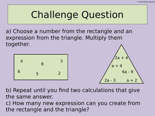 Maths Challenge Question - Expanding Brackets
