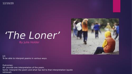 'The Loner' by Julie Holder