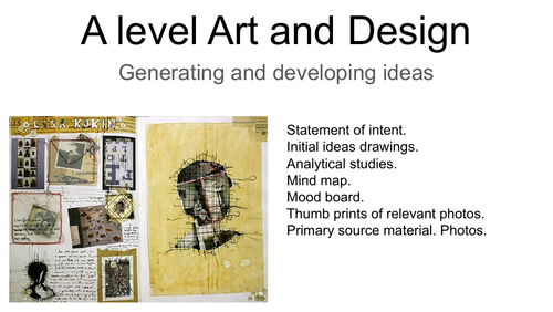 Generating and developing Ideas