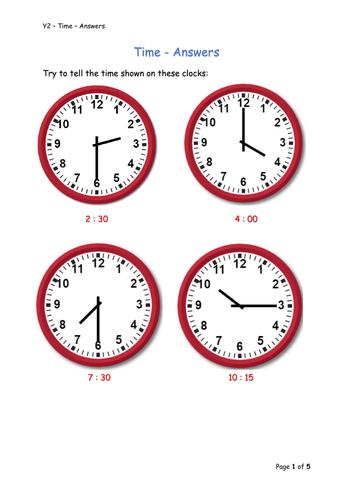 Y2 Maths - Time