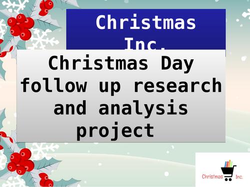 Business Enterprise Christmas Lesson Market Research