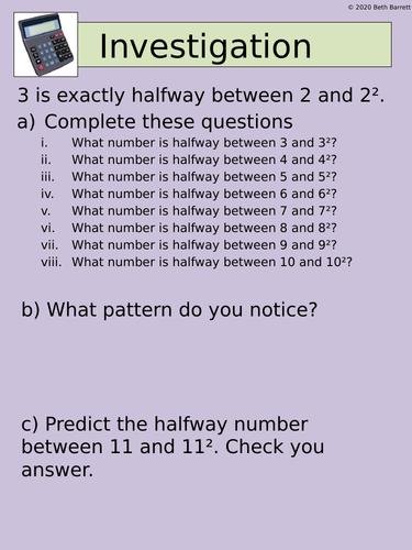Maths Investigation - Indices