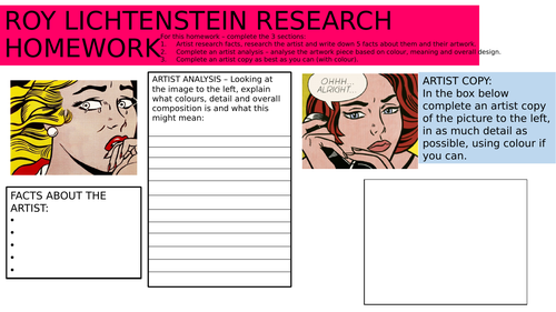 Roy Lichtenstein - Comic book design lesson