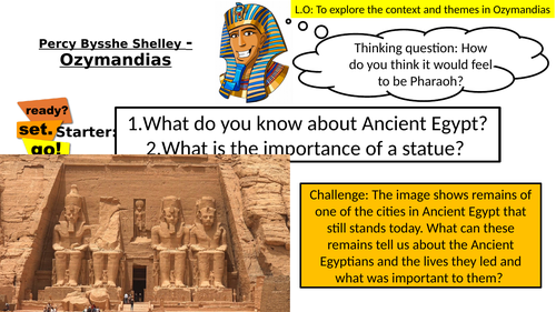 OZYMANDIAS - FULL LESSON  - Context and Themes - AQA POWER AND CONFLICT