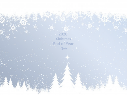 Christmas Quiz 2020 End Of Year