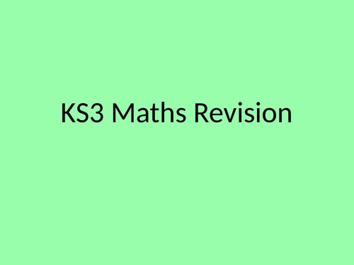 KS3 Maths Revision Powerpoint