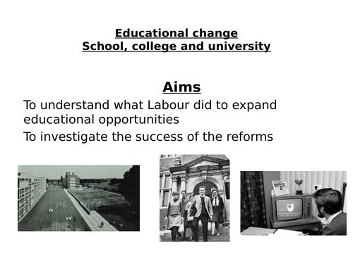 AQA Modern Britain 1951-2007, Education, University and the Open University