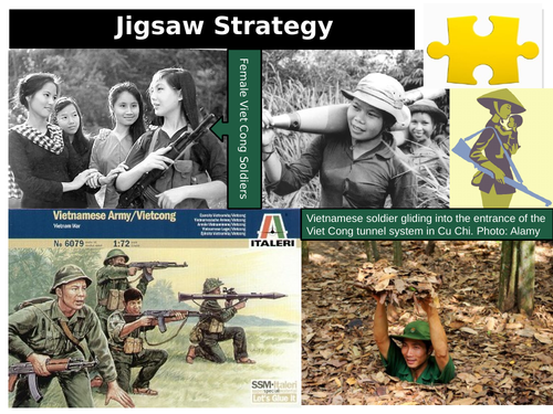 11 Modern History - Vietnam Independence Movement – Jigsaw activity (group work investigating source