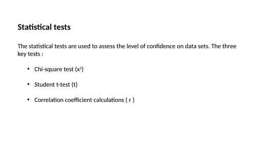 Statistical Tests A level Biology
