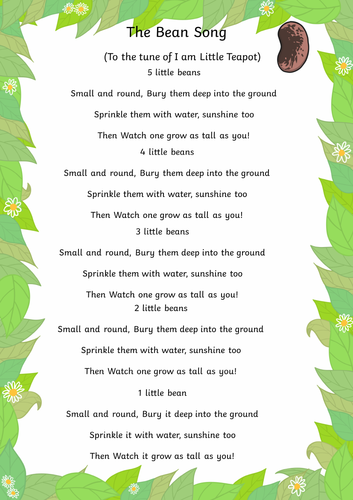 jack and the bean stalk the bean song maths activity for eyfs