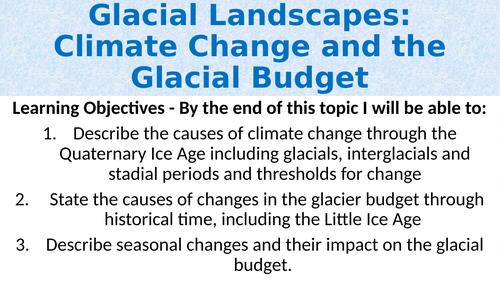 Climate Change & the Glacier Budget (A-Level)