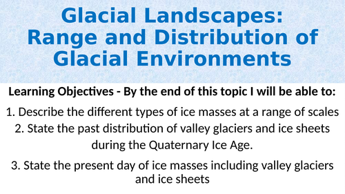 Range and Distribution of Glaciers (A-Level)