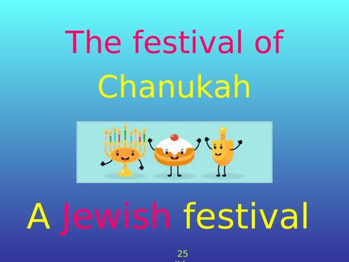 The Festival of Chanukah / Hanukkah - 25 slide PowerPoint